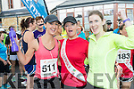 Denise Shanahan, Melissa Nix and Catherine Costelloe (all from Tralee), who took part in the Rose of Tralee 10k on Sunday morning at Tralee Bay Wetlands.