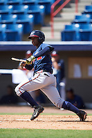 Atlanta Braves Ronald Acuna (7) during an Instructional League game against the Washington Nationals on September 30, 2016 at Space Coast Stadium in Melbourne, Florida.  (Mike Janes/Four Seam Images)