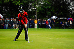 Justin Rose takes his 3rd shot on the 17th hole during the final round of the BMW PGA Championship at Wentworth Club, Surrey, England 27th May 2007 (Photo by Eoin Clarke/NEWSFILE)