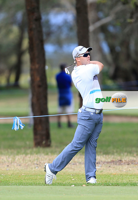 Daniel Nisbet (AUS) on the 16th during Round 2 of the ISPS HANDA Perth International at the Lake Karrinyup Country Club on Friday 24rd October 2014.<br /> Picture:  Thos Caffrey / www.golffile.ie