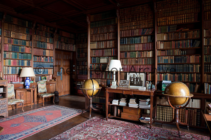 The seventh Earl and his wife commissioned the Arts and Crafts designer C.R. Ashbee to design the library