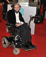 LONDON, ENGLAND - FEBRUARY 08: Professor Stephen Hawking attends the EE British Academy Film Awards 2015, Royal Opera House, Covent Garden, on Sunday February 08, 2015 in London, England, UK. <br /> CAP/CAN<br /> &copy;CAN/Capital Pictures /MediaPunch ***NORTH AND SOUTH AMERICAS ONLY***