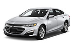 2019 Chevrolet Malibu LT 4 Door Sedan angular front stock photos of front three quarter view