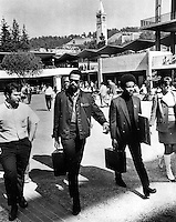 Black Panther Eldridge Cleaver (center) at U.C <br />
