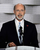 Governor Tom Wolf (Democrat of Pennsylvania) makes remarks during the fourth session of the 2016 Democratic National Convention at the Wells Fargo Center in Philadelphia, Pennsylvania on Thursday, July 28, 2016.<br /> Credit: Ron Sachs / CNP<br /> (RESTRICTION: NO New York or New Jersey Newspapers or newspapers within a 75 mile radius of New York City)