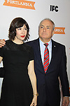 Carrie Brownstein and Lorne Michaels - IFC comedy series Portlandia Season 3 New York Premiere Event on November 10, 2012 at American Museum of Natural History, New York City, New York. It is created, written by and stars Fred Armisen and Carrie Brownstein with executive producer Lorne Michaels. General Hospital Amber Tamblyn is in the production and poses with husband David Cross. (Photo by Sue Coflin/Max Photos)