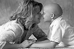 Pediatric patient Lance K is pictured with his mother on July 26, 2007, at the UW Children's Hospital in Madison, Wis. The photography session is coordinated by Flashes of Hope, a nonprofit organization dedicated to creating uplifting portraits of children fighting cancer and other life-threatening illnesses.