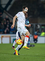 Danny Hylton of Luton Town during the Sky Bet League 2 match between Wycombe Wanderers and Luton Town at Adams Park, High Wycombe, England on the 21st January 2017. Photo by Liam McAvoy.