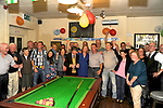 NIFTY FIFTY: Donie Bowler, Kenmare (4th right) celebrating his 50th birthday in O'Murchu's Bar, Main Street, Kenmare with family and friends on Saturday night.