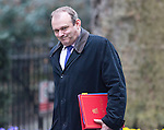 Ed Davey arrives at Cabinet meeting today ahead of nuclear power station announcements ..Energy Secretary Ed Davey told MPs in the Commons that he was granting planning consent for French energy giant EDF to construct Hinkley Point C in Somerset...The proposed £14bn power plant would be capable of powering five million homes.....Picture by Gavin Rodgers/ Pixel 8000 ..07917221968