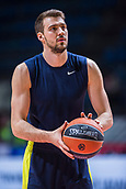 22nd March 2018, Aleksandar Nikolic Hall, Belgrade, Serbia; Turkish Airlines Euroleague Basketball, Crvena Zvezda mts Belgrade versus Fenerbahce Dogus Istanbul; Guard Marko Guduric of Fenerbahce Dogus Istanbul warms up before the match