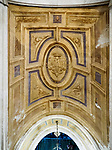 Vaulted ceiling frieze, architectural details, Venice, Italy