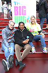 Michael Park, Tonya Pinkins, Laura Heywood, aka @BroadwayGirlNYC, attends Big Hug Day: Broadway comes together to spread kindness and raise funds for Children's Hospitals on January 21, 2018 at Duffy Square, Times Square in New York City.