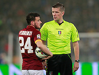 Daniele Orsato during the Italian Serie A soccer match between   AS Roma and Juventus FC       at Olympic Stadium      in Rome ,March 02 , 2015
