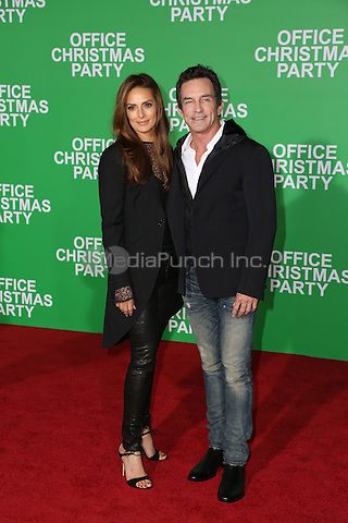 WESTWOOD, CA - DECEMBER 07: Lisa Ann Russell, Jeff Probst  arrives at the premiere of Paramount Pictures' 'Office Christmas Party' at Regency Village Theatre on December 7, 2016 in Westwood, California.  (Credit: Parisa Afsahi/MediaPunch).