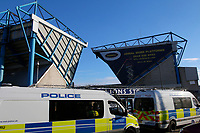A general view of the police presence seen during the Sky Bet Championship match between Millwall and Sheff United at The Den, London, England on 2 December 2017. Photo by Carlton Myrie / PRiME Media Images.