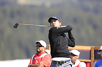 Sebastien Gros (FRA) tees off the 14th tee during Thursday's Round 1 of the 2017 Omega European Masters held at Golf Club Crans-Sur-Sierre, Crans Montana, Switzerland. 7th September 2017.<br /> Picture: Eoin Clarke | Golffile<br /> <br /> <br /> All photos usage must carry mandatory copyright credit (&copy; Golffile | Eoin Clarke)
