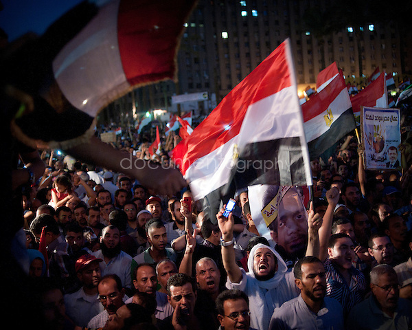 Thousands of Egyptians in Tahrir Square on Tuesday to protest against the ruling military's bid to grab new powers...Cairo, Egypt, 19th of june 2012.Copyright : Magali Corouge/ Documentography