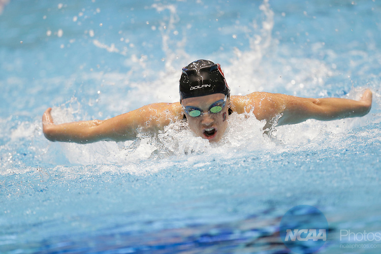 INDIANAPOLIS, IN - MARCH 18: Ella Eastin swimming for Stanford in the 200 Yard Butterfly during the Division I Women's Swimming & Diving Championships held at the Indiana University Natatorium on March 18, 2017 in Indianapolis, Indiana. (Photo by A.J. Mast/NCAA Photos via Getty Images)