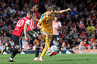 Nick Powell of Wigan Athletic in action during Brentford vs Wigan Athletic, Sky Bet EFL Championship Football at Griffin Park on 15th September 2018