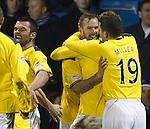 Rowan Vine takes the acclaim for his winning goal
