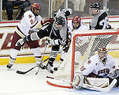 Malcolm Lyles (BC - 23), Tim Schaller (Providence - 11), Matt Price (BC - 25), Ian O'Connor (Providence - 26), Parker Milner (BC - 35) - The Boston College Eagles defeated the Providence College Friars 4-1 on Tuesday, January 12, 2010, at Conte Forum in Chestnut Hill, Massachusetts.