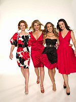 Sex and the City (2008) <br /> Promo shot of Kim Cattrall, Sarah Jessica Parker, Kristin Davis &amp; Cynthia Nixon<br /> *Filmstill - Editorial Use Only*<br /> CAP/MFS<br /> Image supplied by Capital Pictures