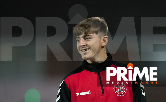Ryan Rydel of Fleetwood Town pre match during the Sky Bet League 1 match between Fleetwood Town and Wycombe Wanderers at Highbury Stadium, Fleetwood, England on 2 October 2018. Photo by Andy Rowland.