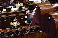 Roma, 16 Marzo 2013.Montecitorio, Camera dei Deputati.Secondo giorno in Aula della XVII Legislatura del Parlamento italiano.Elezione del Presidente.Pier Luigi Bersani al voto