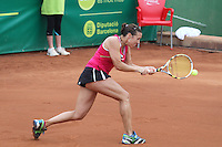 12.04.2012 Barcelona, Spain. WTA Barcelona Ladies Open. Picture show Laura Pous-Tio at Centre municipal de tennis Vall d'Hebron