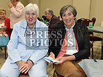Margaret O'Kane and Dorothy Collins at the official opening of the new Associated Bridge Clubs of Drogheda (ABCD) headquaters on the Fair Green. Photo:Colin Bell/pressphotos.ie