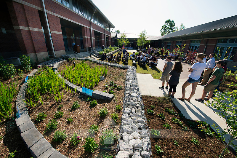 Landscape Architecture Rain Garden ribbon-cutting.<br />  (photo by Megan Bean / &copy; Mississippi State University)