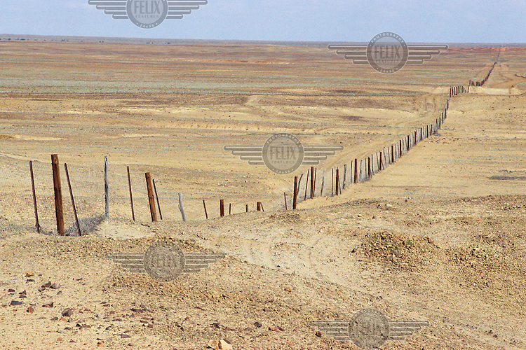 The Dog Fence, which was placed to separate cattle and sheep land and to prevent dingos from entering the sheep enclosure...