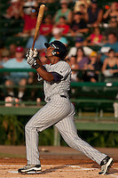 Deibinson Romero of the Ft. Myers Miracle during the game against the Daytona Cubs July 17 2010 at Jackie Robinson Ballpark in Daytona Beach, Florida. Photo By Scott Jontes/Four Seam Images