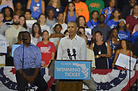 MIAMI, FLORIDA - NOVEMBER 02: Former U.S. President Barack Obama speaks during a rally to support Florida Democratic gubernatorial candidate Andrew Gillum and U.S. Senator Bill Nelson (D-FL) at the Ice Palace film studios on November 02, 2018 in Miami, Florida. Senator Nelson (D-FL) and candidate Andrew Gillum are in tight races against their Republican opponents.  <br /> CAP/MPI10<br /> &copy;MPI10/Capital Pictures