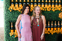 Vanessa Kay and Pauline Brown at The Sixth Annual Veuve Clicquot Polo Classic on Oct. 17, 2015 (Photo by Tiffany Chien/Guest Of A Guest)