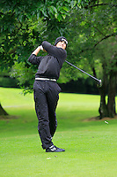 Spencer Adamson (K Club) on the 3rd tee during round 1 of The Mullingar Scratch Cup in Mullingar Golf Club on Sunday 3rd August 2014.<br /> Picture:  Thos Caffrey / www.golffile.ie