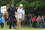 Graeme McDowell (NIR) and caddy Ken Comboy walk onto the 11th green during the Final Day Sunday of The Irish Open presented by Discover Ireland at Killarney Golf & Fishing Club on 31st July 2011 (Photo Fran Caffrey/www.golffile.ie)