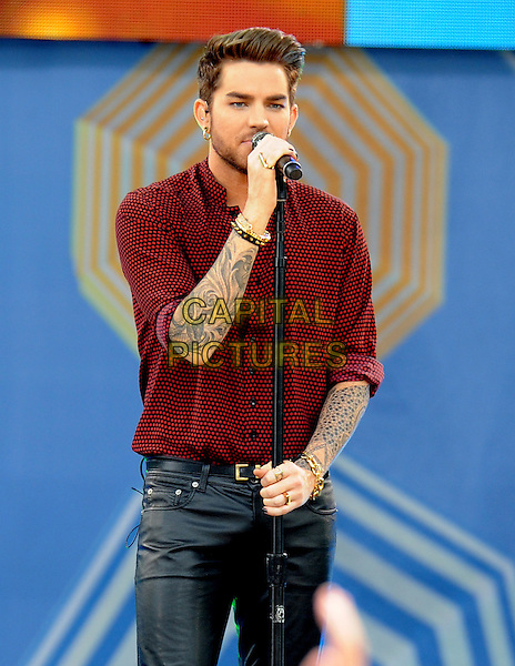 New York, NY: June 19, 2015: Adam Lambert performs in Central PArk at Rumsey Playfield as part of the 2015 Good Morning America Summer Concert Series. <br /> CAP/MPI/STV<br /> &copy;STV/MPI/Capital Pictures