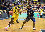10.05.2019, EWE Arena, Oldenburg, GER, easy Credit-BBL, EWE Baskets Oldenburg vs Mitteldeutscher BC, im Bild<br /> Frantz MASSENAT (EWE Baskets Oldenburg #10 ) Trevor RELEFORD (Mitteldeutscher BC #12 )<br /> <br /> Foto © nordphoto / Rojahn