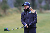 Sara Ericsson (Sweden) on the 1st tee during Round 1 of the Irish Girls U18 Open Stroke Play Championship at Roganstown Golf &amp; Country Club, Dublin, Ireland. 05/04/19 <br /> Picture:  Thos Caffrey / www.golffile.ie