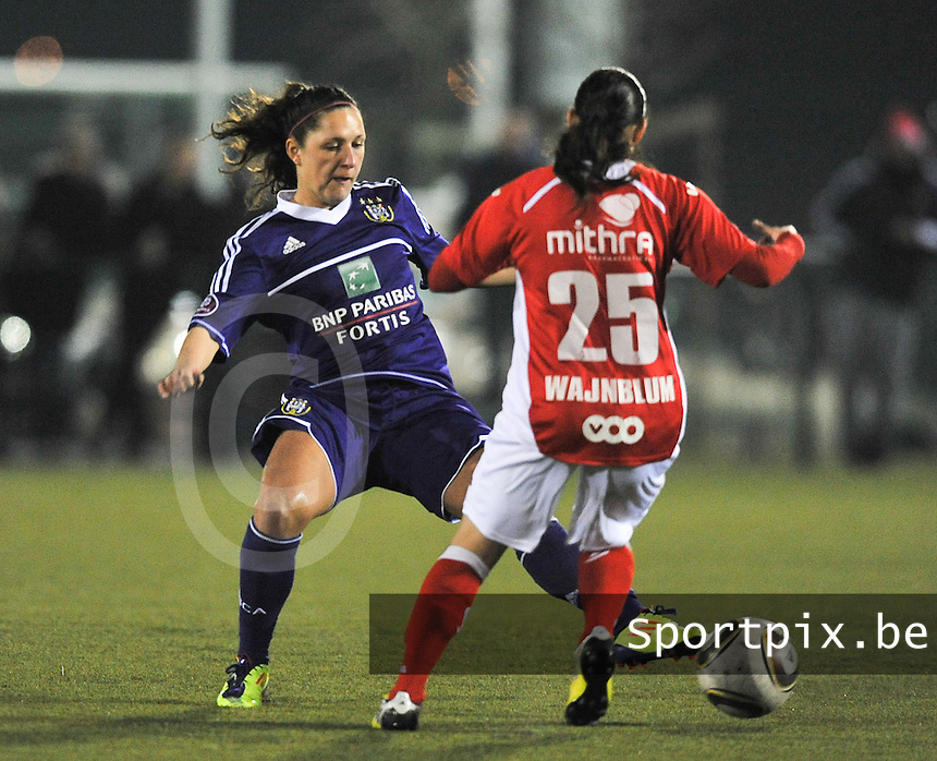 RSC Anderlecht - Standard Femina : Laurence Marchal.foto DAVID CATRY / Vrouwenteam.be