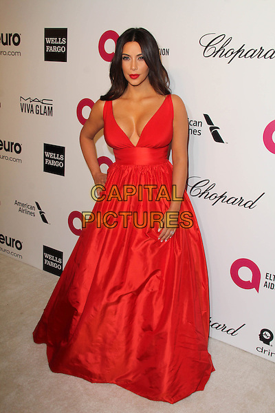 WEST HOLLYWOOD, CA - March 02: Kim Kardashian at the 22nd Annual Elton John AIDS Foundation Oscar Viewing Party Arrivals, Private Location, West Hollywood,  March 02, 2014. <br /> CAP/MPI/JO<br /> &copy;JO/MPI/Capital Pictures