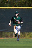 Dartmouth Big Green center fielder Trevor Johnson (36) during a game against the Eastern Michigan Eagles on February 25, 2017 at North Charlotte Regional Park in Port Charlotte, Florida.  Dartmouth defeated Eastern Michigan 8-4.  (Mike Janes/Four Seam Images)