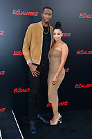 Wesley Johnson &amp; Melissa Sanchez at the premiere for &quot;The Equalizer 2&quot; at the TCL Chinese Theatre, Los Angeles, USA 17 July 2018<br /> Picture: Paul Smith/Featureflash/SilverHub 0208 004 5359 sales@silverhubmedia.com