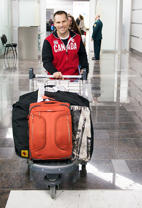 Sochi, RUSSIA - Mar 3 2014 -  Warren Thirsk arrives prior to the 2014 Paralympics in Sochi, Russia.  (Photo: Matthew Murnaghan/Canadian Paralympic Committee)