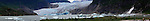Mendenhall Glacier panoramic , near Juneau, Alaska.  Bob Gathany Photographer
