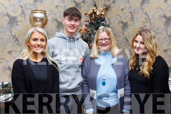 Attending the Kerry School of Music, Mistletoe & Wine reception at the Rose Hotel on Sunday evening, l to r, Laura Hynes, Aodhan McKenna, Mary & Shelly Hynes.