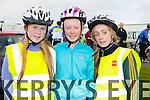 At the St Brendan's NS FENIT Coastal Cycle on Saturday were Kym Sugrue, Leanne Williams, Laura O'Carroll