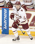 Teddy Doherty (BC - 4) - The Boston College Eagles defeated the visiting University of Connecticut Huskies 3-2 on Saturday, January 24, 2015, at Kelley Rink in Conte Forum in Chestnut Hill, Massachusetts.